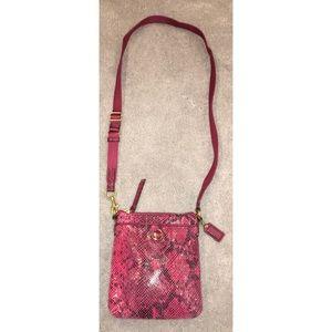 •Coach• Snake-Print Crossbody Bag